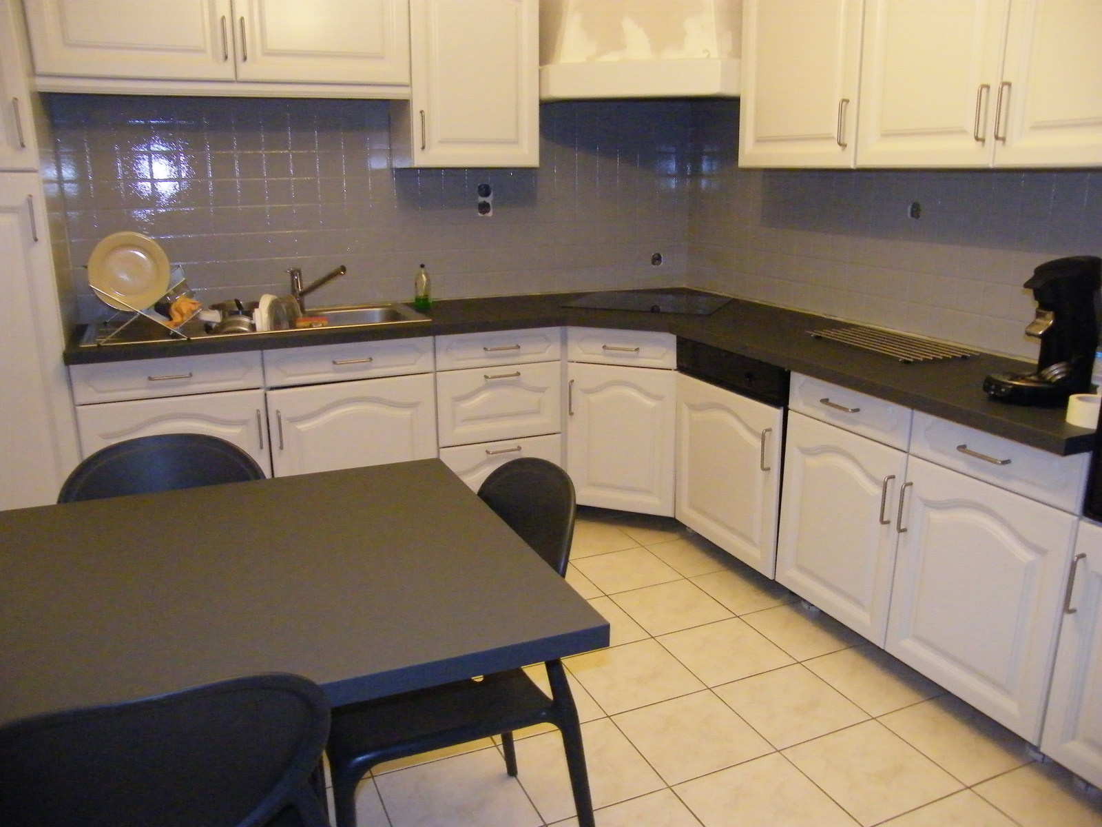 Peinture renovation cuisine chene