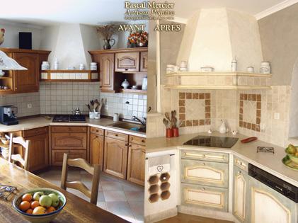 Peinture renovation cuisine bois