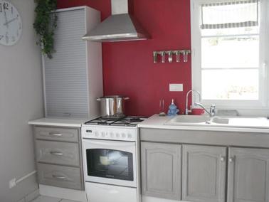 Peinture meuble cuisine cerusé