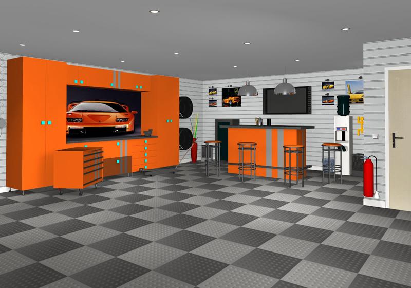 Peinture carrelage garage