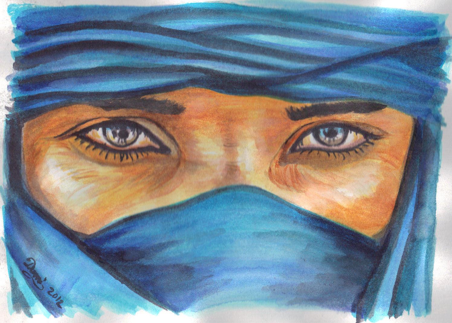 Peinture acrylique dans les yeux