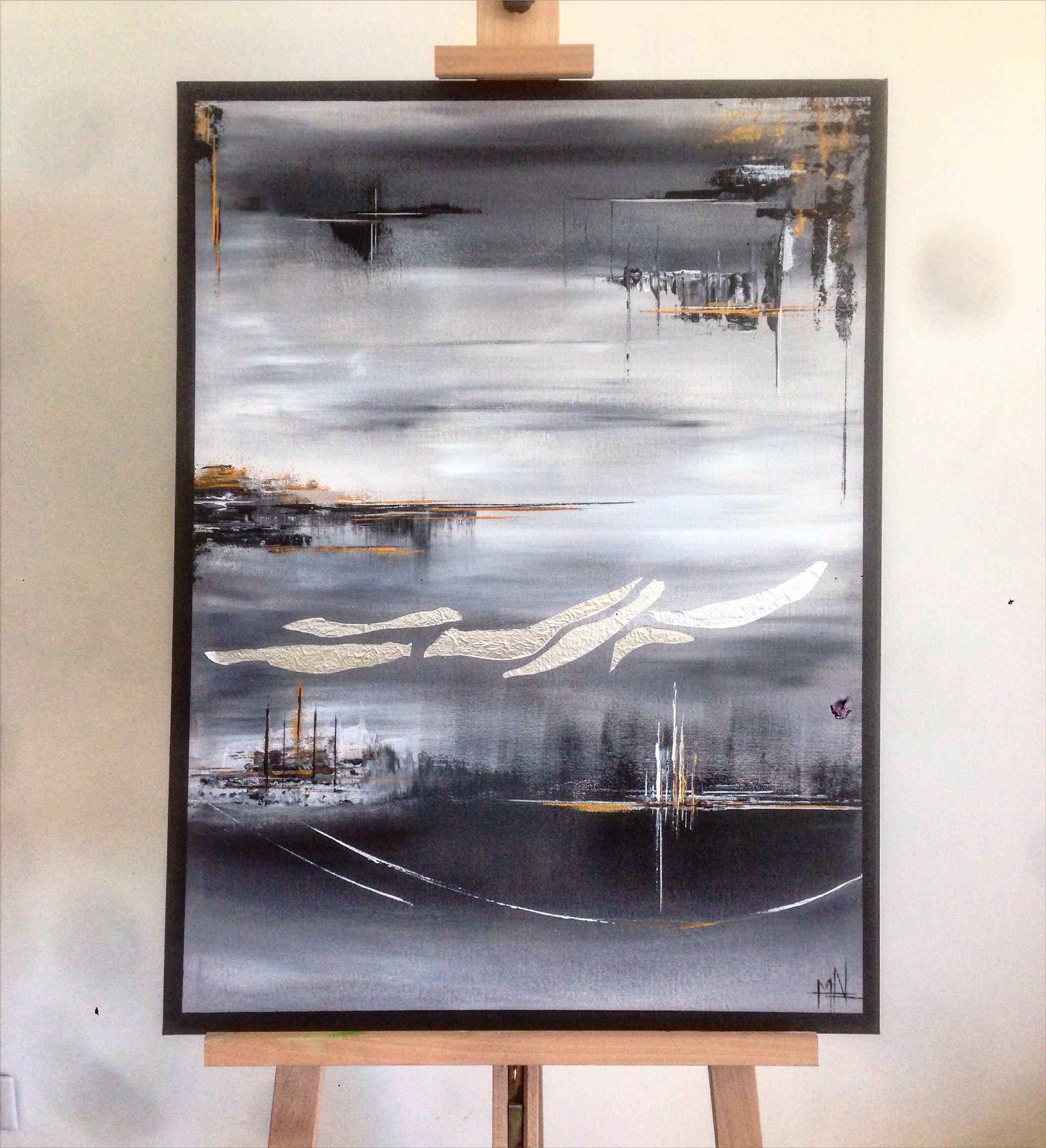 Peinture acrylique sur toile contemporaine