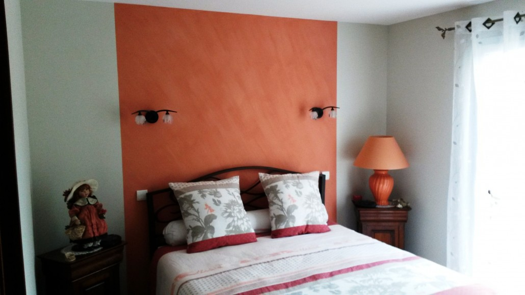 Peinture deco tete de lit