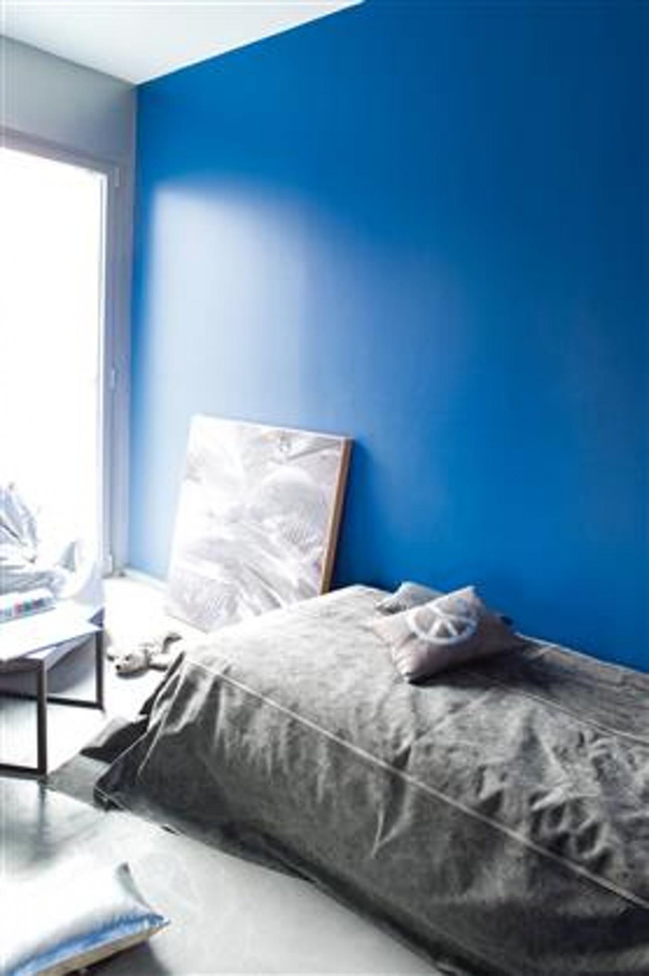 Decoration peinture bleu chambre