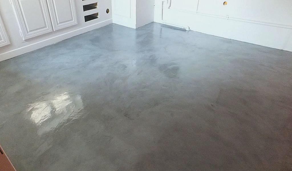 Peinture effet beton sur carrelage cuisine