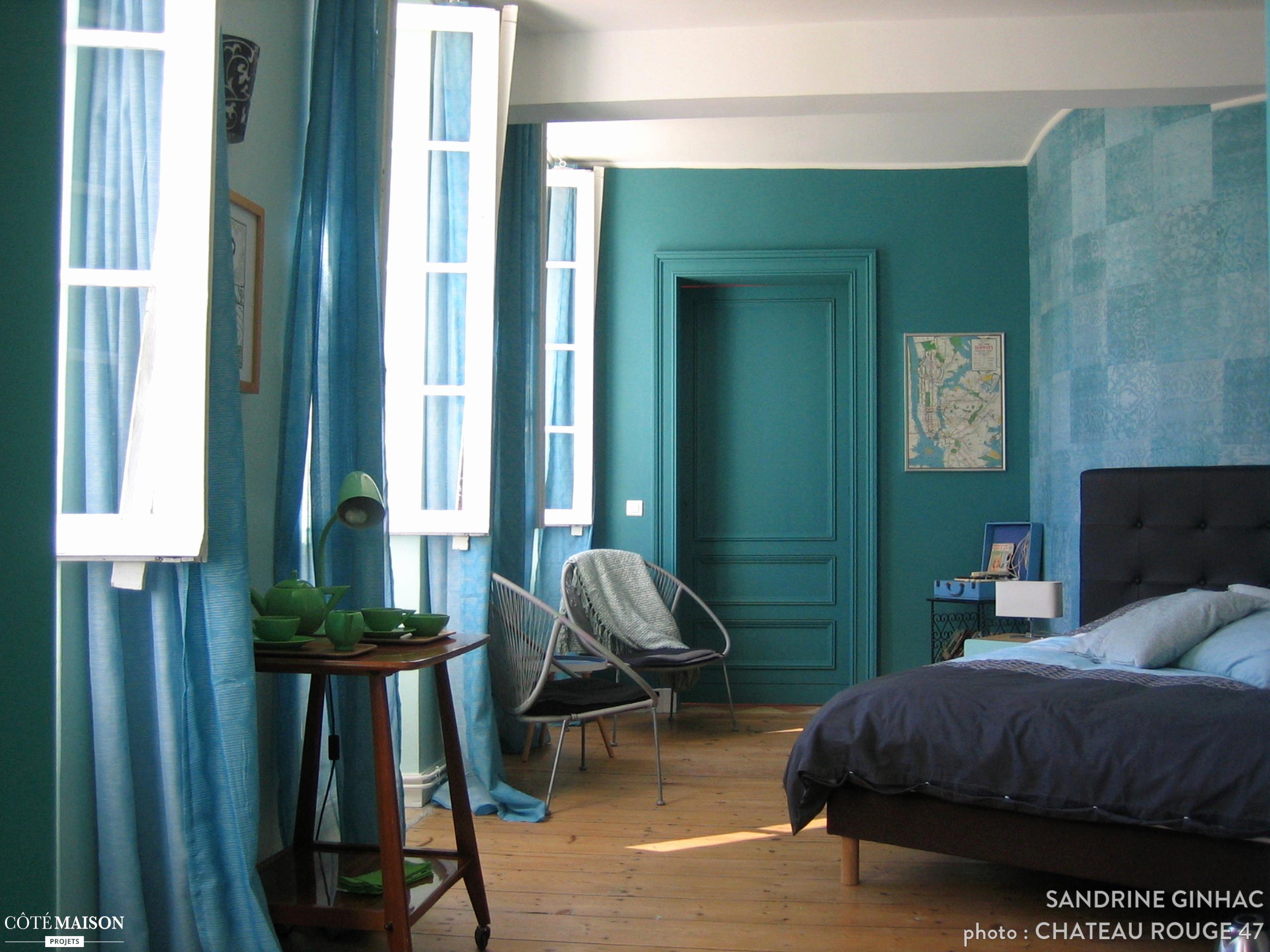 Peinture maison turquoise