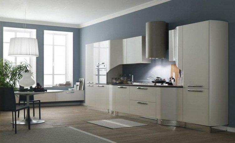 Peinture cuisine gris bleu