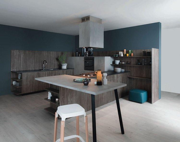 Peinture cuisine bleu