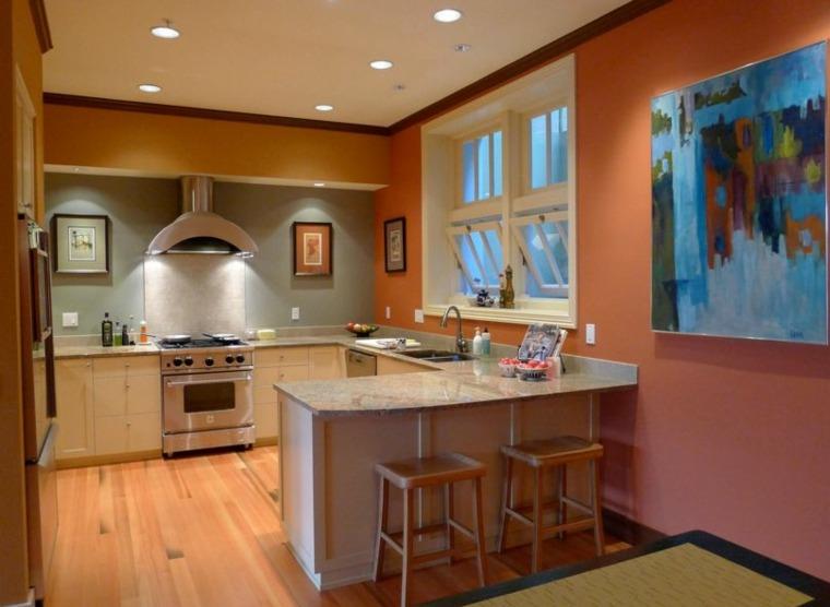 Couleur peinture cuisine orange