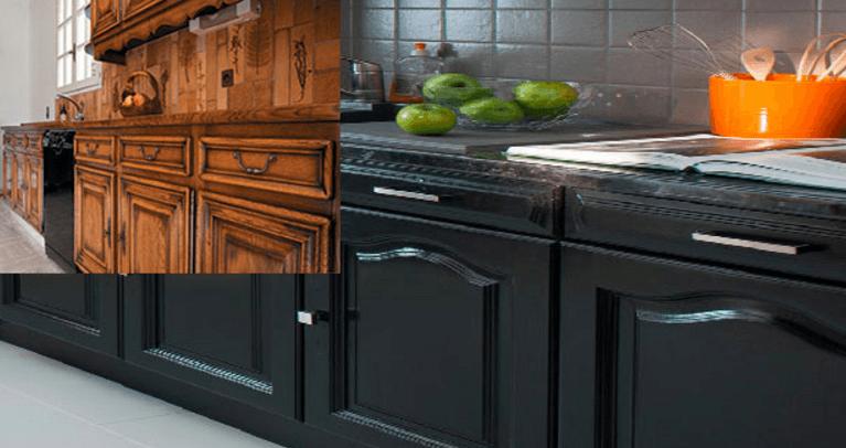 Repeindre une cuisine en chene rustique