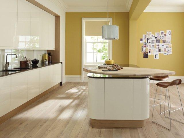 Idee peinture cuisine avec meuble beige