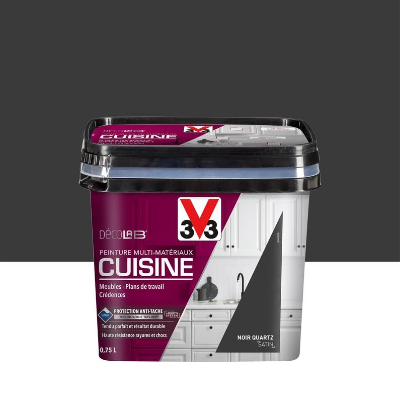 Peinture rénovation cuisine blanc satiné 0.75l - v33
