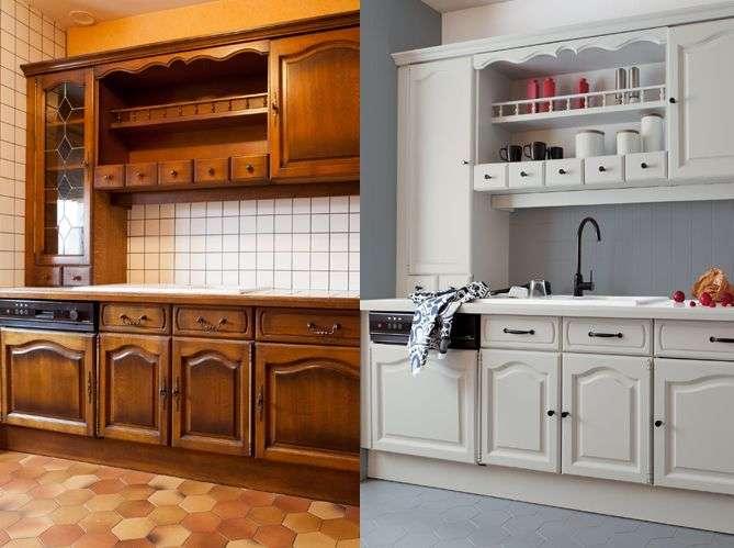 Peinture meuble cuisine deco