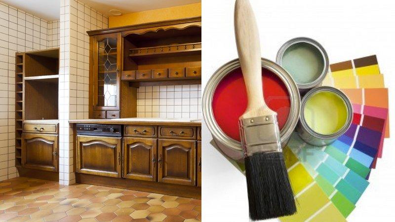 Peinture pour cuisine bois vernis
