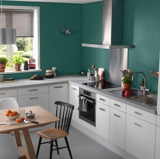 Peinture cuisine bleu vert