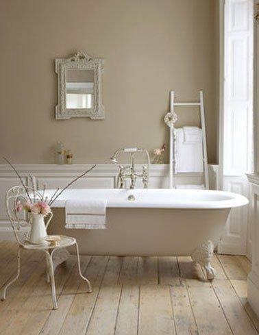 Peinture carrelage salle de bain lin