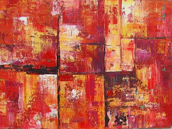 Peinture acrylique rouge