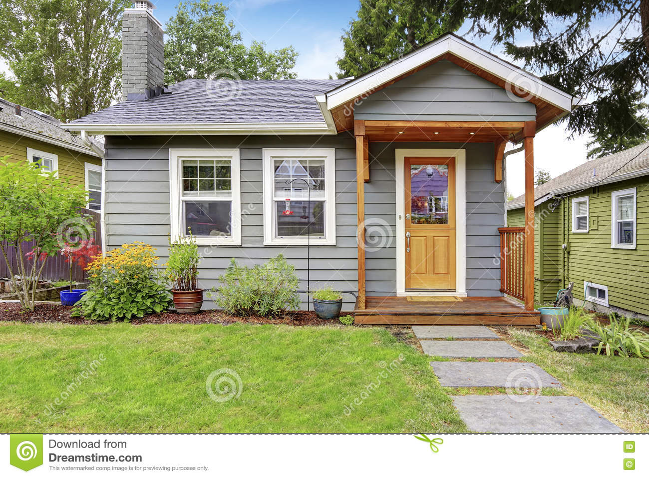 Peinture extérieure maison vert