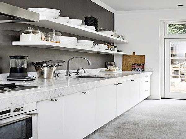 Peinture grise cuisine blanche