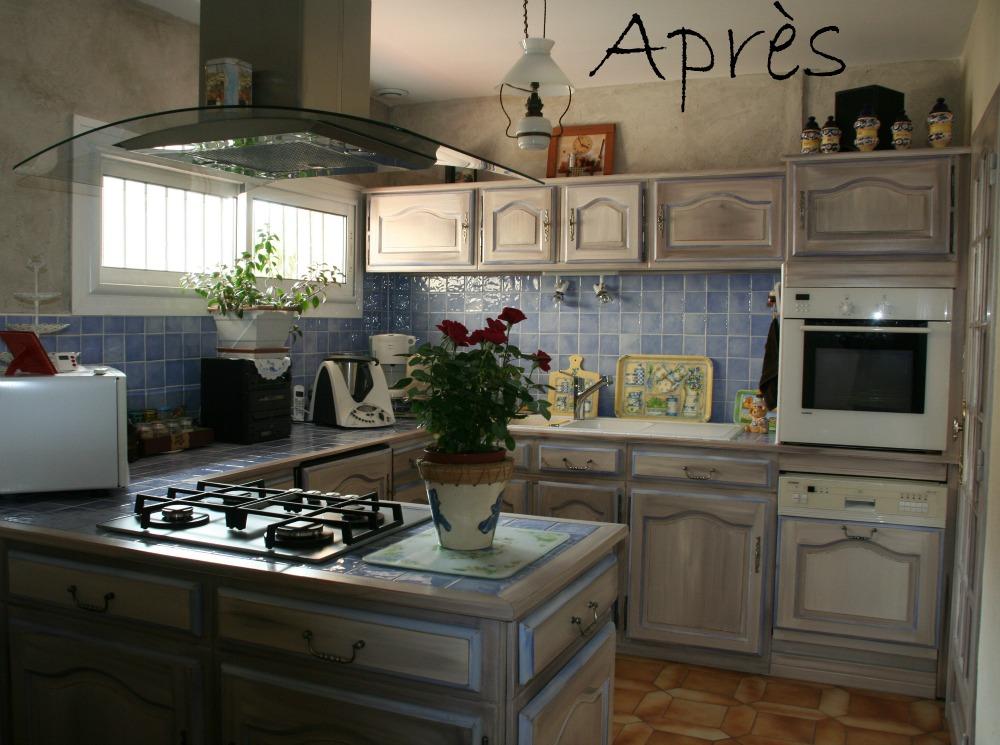Peinture armoire cuisine en bois - Comment peindre une cuisine en bois ...