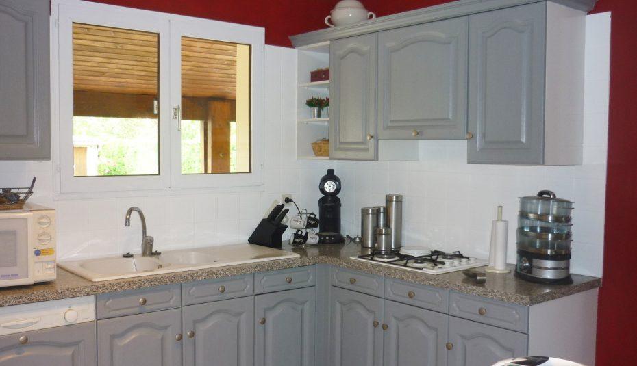 Peinture pour bois de cuisine - Cuisine bois gris clair ...