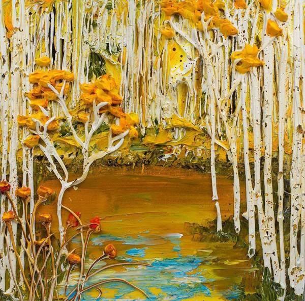 Peinture acrylique sur toile en relief