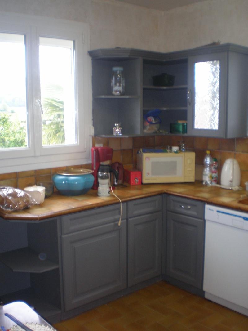 Repeindre cuisine rustique en blanc - Repeindre meuble de cuisine sans poncer ...
