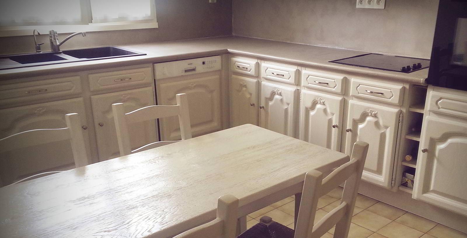 Peindre meuble cuisine chene