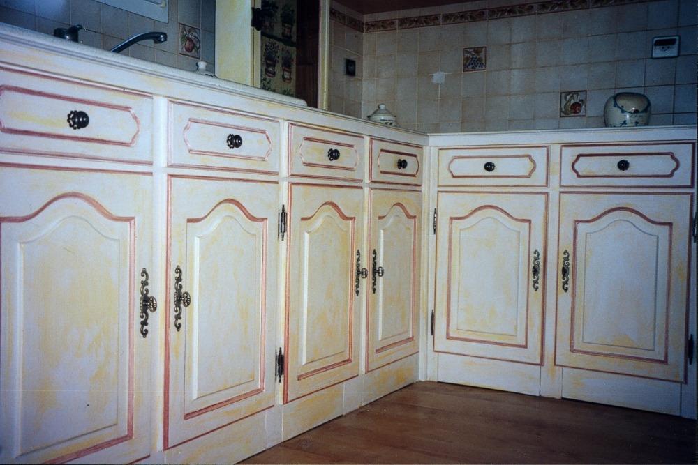 Peinture a effet pour meuble de cuisine