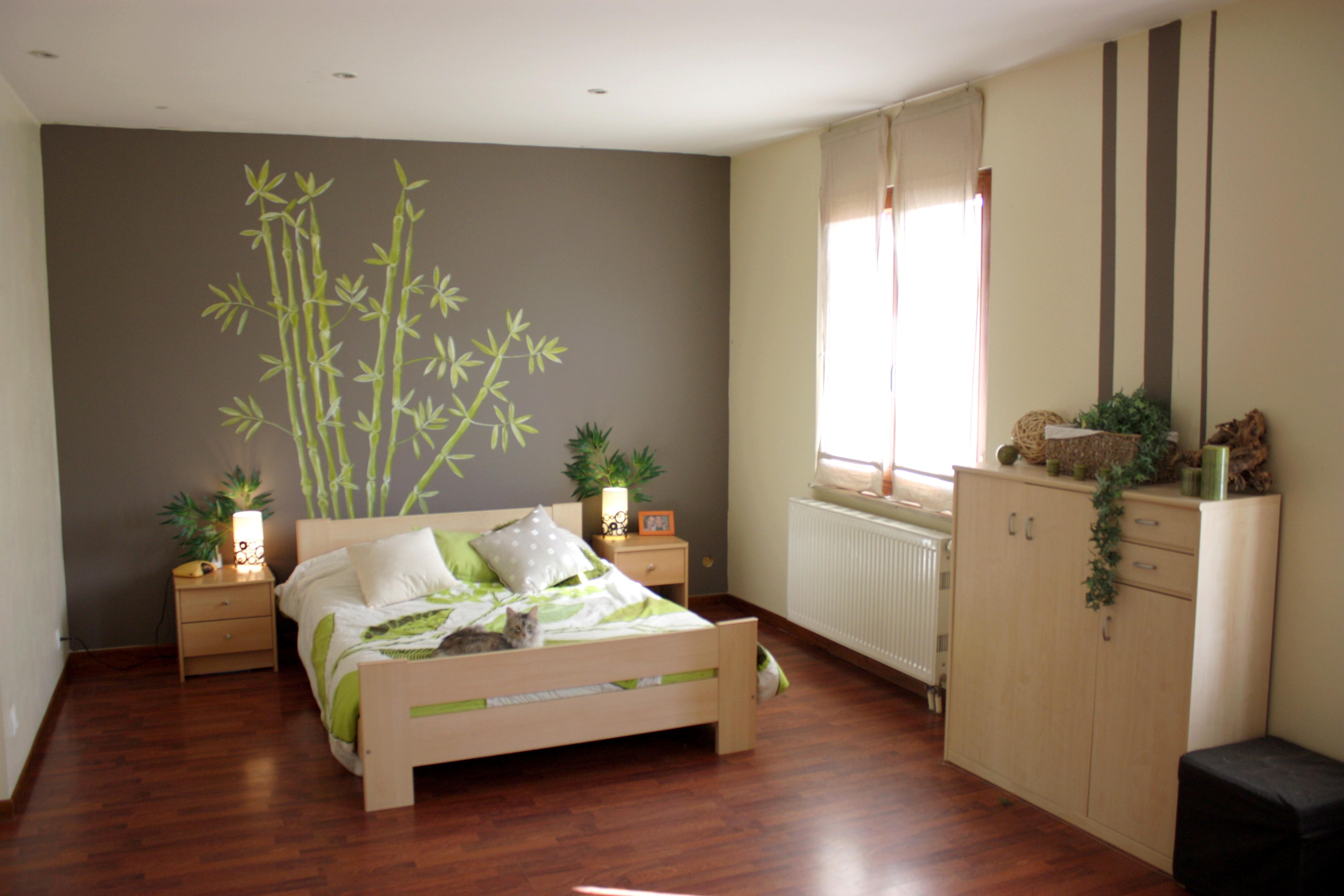 Decoration peinture beige