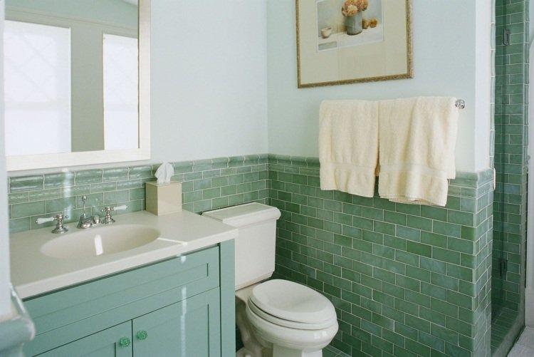 Peinture carrelage salle de bain vert d\'eau - Livreetvin.fr