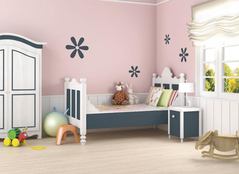 Deco peinture mur chambre bebe