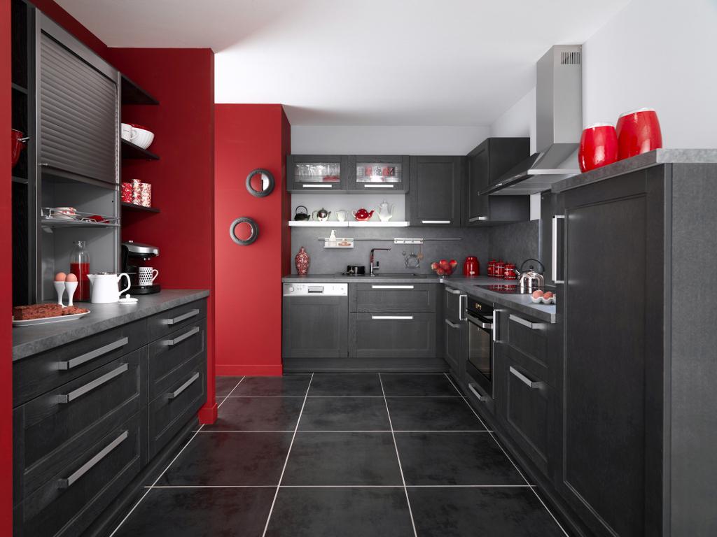 Peinture pour une cuisine rouge
