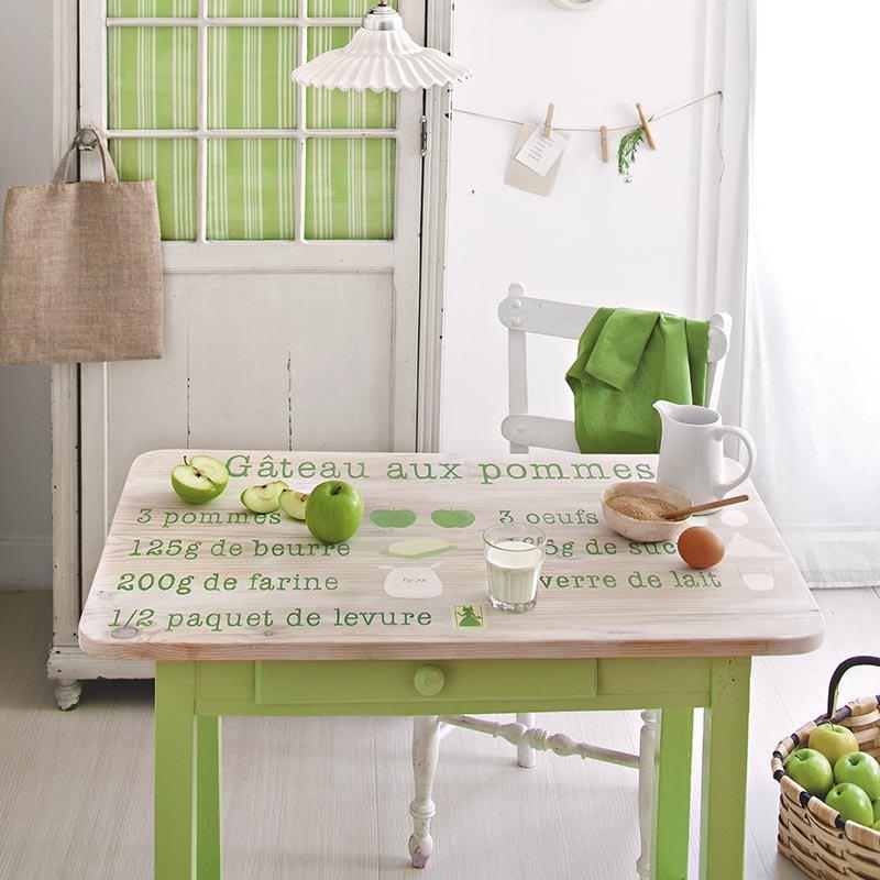Peinture table cuisine bois