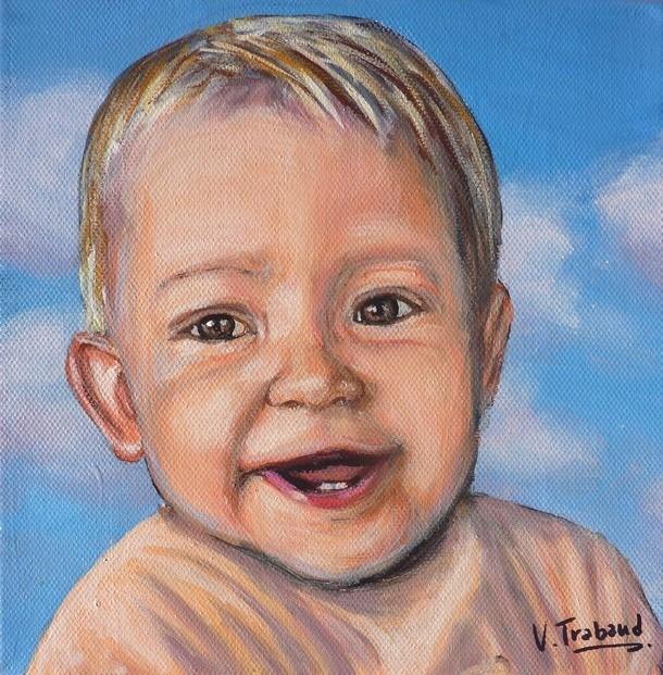 Peinture acrylique et bebe