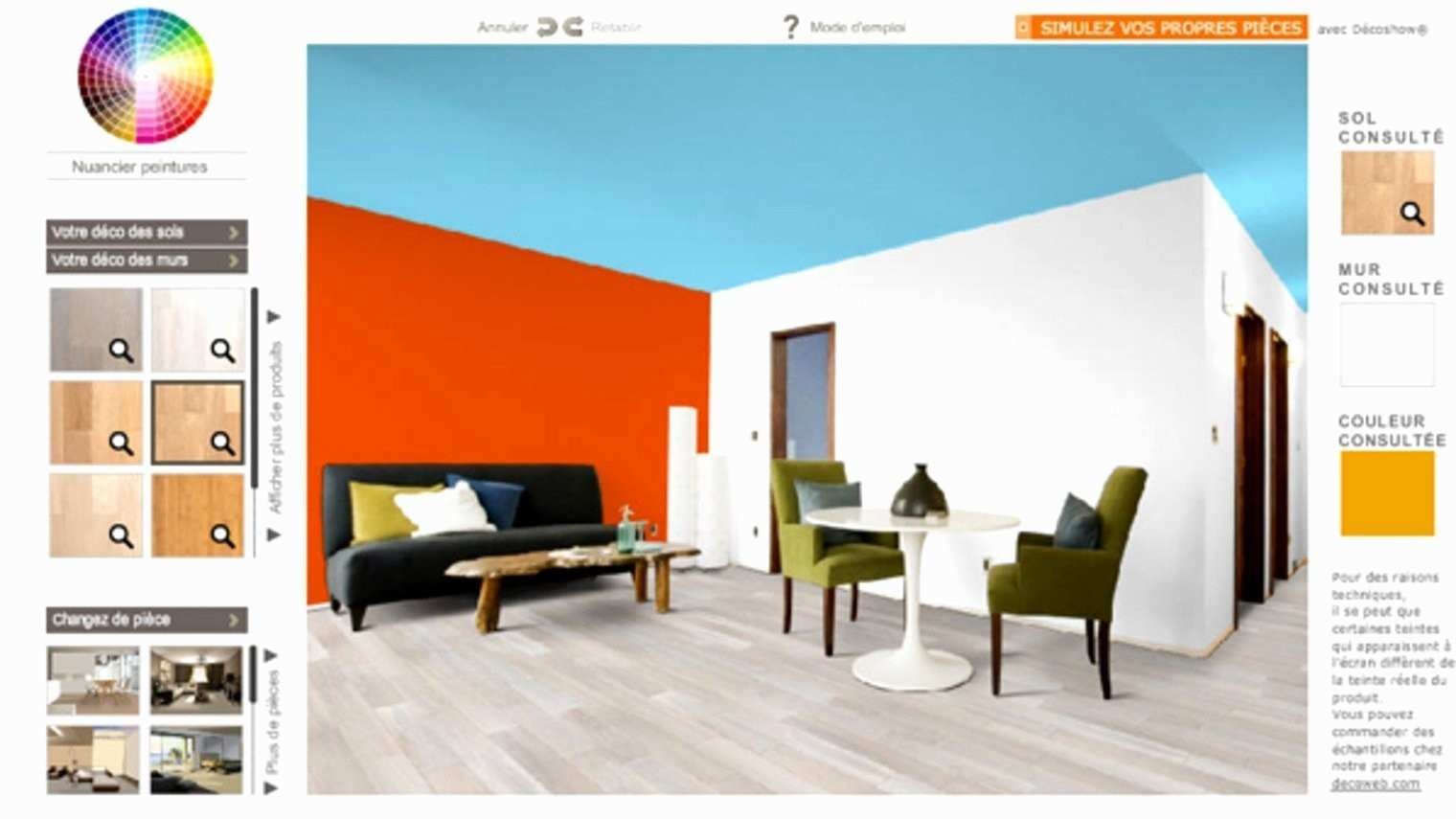 Simulation peinture cuisine couleur