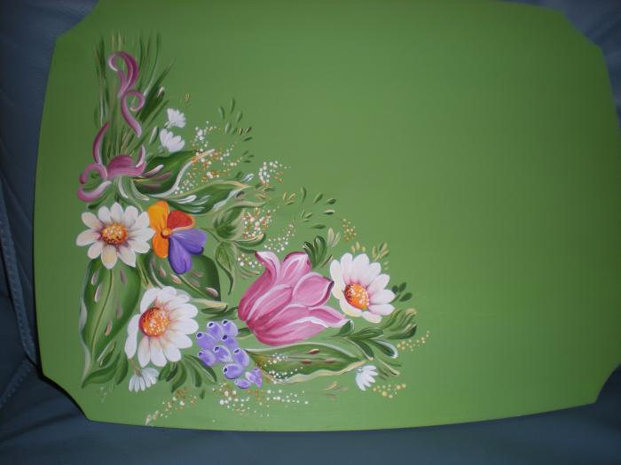 La peinture sur bois décorative