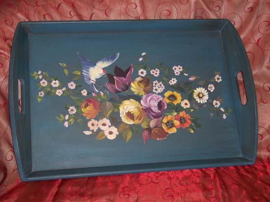 Photo peinture décorative sur bois