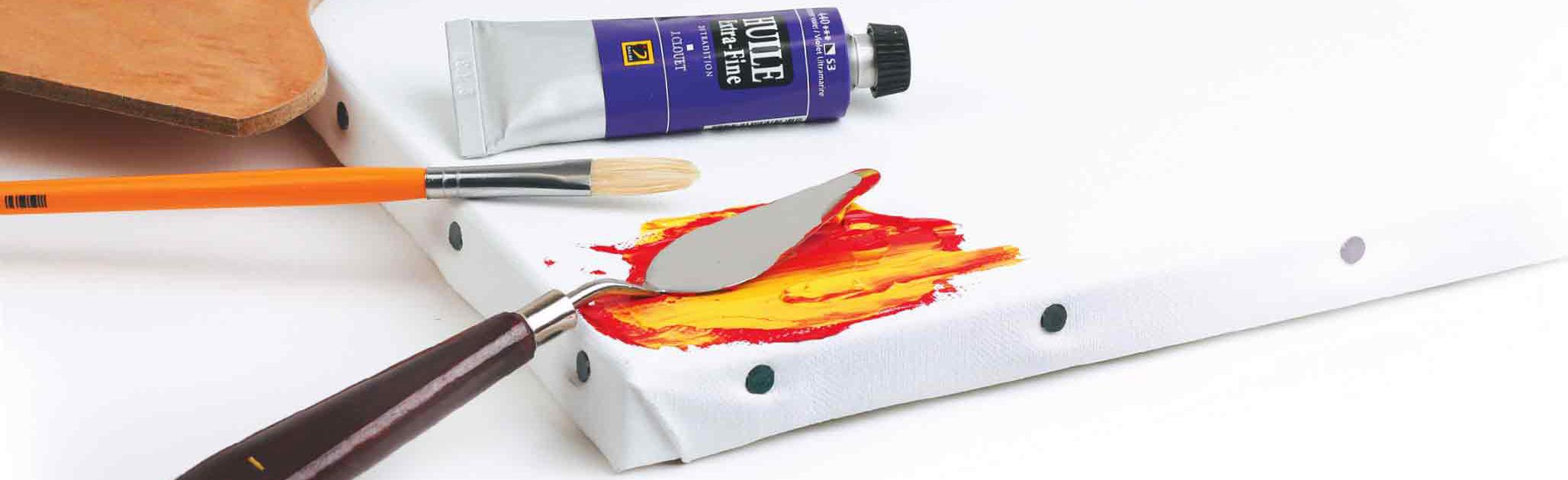 Enlever peinture acrylique sur une toile
