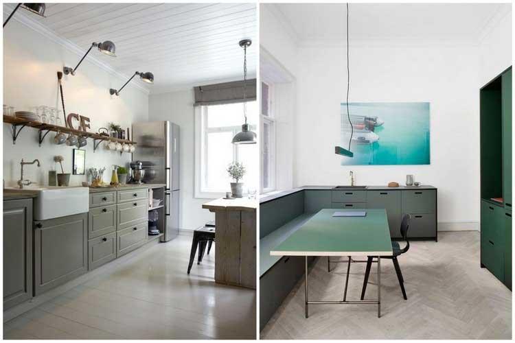 Peinture meuble cuisine kaki
