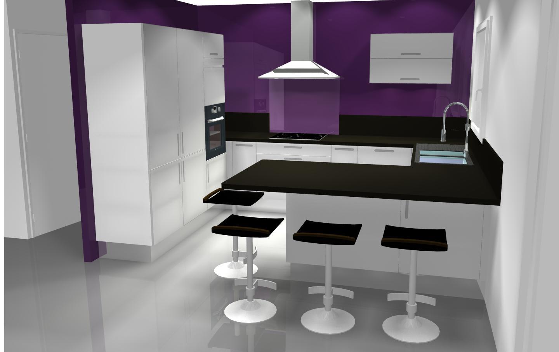 Couleur de peinture pour cuisine avec meuble gris